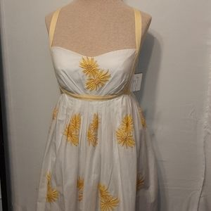NWT CHARLES CHANG-LIMA EMPIRE EMBROIDERED SUNDRESS
